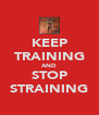 KEEP TRAINING AND STOP STRAINING - Personalised Poster A4 size