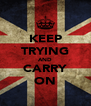 KEEP TRYING AND CARRY ON - Personalised Poster A4 size