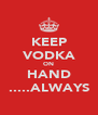 KEEP VODKA ON HAND .....ALWAYS - Personalised Poster A4 size