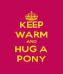 KEEP WARM AND HUG A PONY - Personalised Poster A4 size
