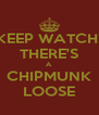 KEEP WATCH! THERE'S A CHIPMUNK LOOSE - Personalised Poster A4 size