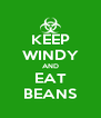 KEEP WINDY AND EAT BEANS - Personalised Poster A4 size