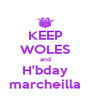 KEEP WOLES and H'bday marcheilla - Personalised Poster A4 size