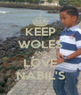 KEEP WOLES AND LOVE NABIL'S - Personalised Poster A4 size