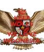 KEEP WOLES AND WE LOVE INDONESIA - Personalised Poster A4 size