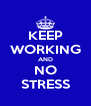 KEEP WORKING AND NO STRESS - Personalised Poster A4 size