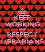 KEEP WORKING AND RESPECT LIBRARIANS - Personalised Poster A4 size