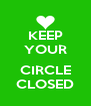 KEEP YOUR  CIRCLE CLOSED - Personalised Poster A4 size