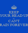 KEEP YOUR HEAD UP IT CAN'T RAIN FOREVER - Personalised Poster A4 size