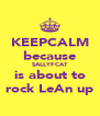 KEEPCALM because SALLYFCAT is about to rock LeAn up - Personalised Poster A4 size