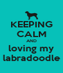 KEEPING CALM AND loving my labradoodle - Personalised Poster A4 size