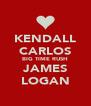 KENDALL CARLOS BIG TIME RUSH JAMES LOGAN - Personalised Poster A4 size