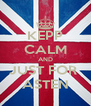 KEPP CALM AND JUST FOR  ASTEN - Personalised Poster A4 size