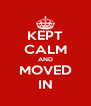 KEPT CALM AND MOVED IN - Personalised Poster A4 size