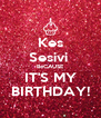 Kes Sesivi  BeCAUSE IT'S MY BIRTHDAY! - Personalised Poster A4 size