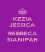 KEZIA JESSICA  REBBECA SIANIPAR - Personalised Poster A4 size