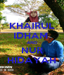 KHAIRUL IDHAM  AND NUR HIDAYAH - Personalised Poster A4 size