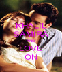 KHALIL SAMIRA AND LOVE ON - Personalised Poster A4 size