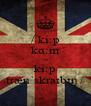 / kiːp kɑːm ən kiːp trænˈskraɪbɪŋ / - Personalised Poster A4 size