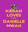 KIERAN LOVES YOU  DANIELLE MWAH - Personalised Poster A4 size