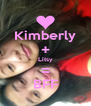 Kimberly + Litsy = BFF - Personalised Poster A4 size