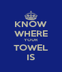 KNOW WHERE YOUR TOWEL IS - Personalised Poster A4 size
