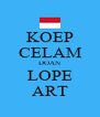 KOEP CELAM DOAN LOPE ART - Personalised Poster A4 size