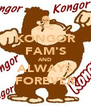 KONGOR FAM'S AND ALWAYS FOREVER - Personalised Poster A4 size