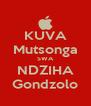 KUVA Mutsonga SWA NDZIHA Gondzolo - Personalised Poster A4 size