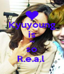 Kyuyoung is so so R.e.a.l  - Personalised Poster A4 size