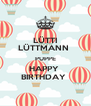 LÜTTI LÜTTMANN  PUPPE HAPPY  BIRTHDAY  - Personalised Poster A4 size