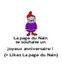 La page du Nain te souhaite un joyeux anniversaire ! (> Likez La page du Nain)  - Personalised Poster A4 size
