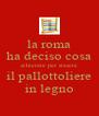 la roma ha deciso cosa schierare per stasera il pallottoliere in legno - Personalised Poster A4 size