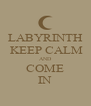 LABYRINTH  KEEP CALM AND COME IN - Personalised Poster A4 size