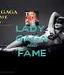LADY  GAGA AND FAME  - Personalised Poster A4 size