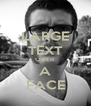 LARGE TEXT OVER A FACE - Personalised Poster A4 size