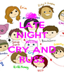 LATE NIGHT WITH CRY AND RUSS - Personalised Poster A4 size