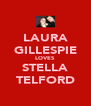 LAURA GILLESPIE LOVES STELLA TELFORD - Personalised Poster A4 size