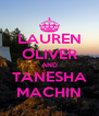LAUREN OLIVER AND TANESHA MACHIN - Personalised Poster A4 size