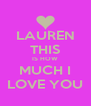 LAUREN THIS IS HOW MUCH I LOVE YOU - Personalised Poster A4 size