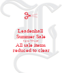 Leadenhall  Summer Sale Up to 75% off All sale items  reduced to clear - Personalised Poster A4 size