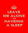 LEAVE ME ALONE I AM HAVEING  A SLEEP - Personalised Poster A4 size