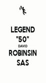 "LEGEND ""50"" DAVID ROBINSIN SAS - Personalised Poster A4 size"