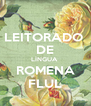 LEITORADO  DE LÍNGUA  ROMENA FLUL - Personalised Poster A4 size