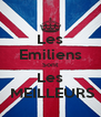 Les Emiliens Sont Les  MEILLEURS - Personalised Poster A4 size