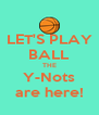 LET'S PLAY BALL THE Y-Nots are here! - Personalised Poster A4 size