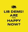 LIB DEMS! ARE YOU HAPPY NOW? - Personalised Poster A4 size