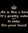 Life is like a bird It's pretty cute Until It shits On your head - Personalised Poster A4 size