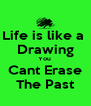 Life is like a  Drawing You  Cant Erase The Past - Personalised Poster A4 size