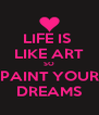 LIFE IS  LIKE ART SO PAINT YOUR DREAMS - Personalised Poster A4 size